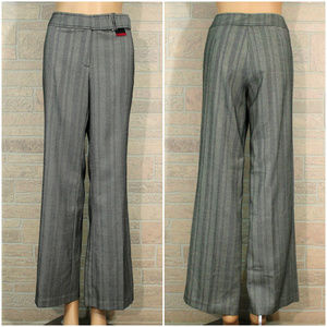 New York & Co Buckle Waist Herringbone Pants